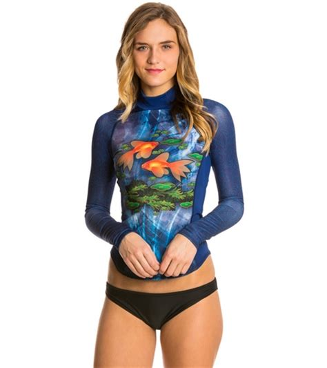 girls4sport s pisces l s rashguard with shelf at