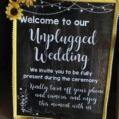 Unplugged Wedding Announcement by Here Comes The Sign Printable Wedding Chalkboard