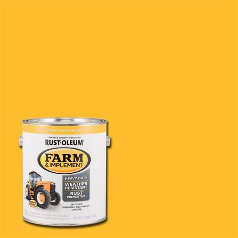 new paint rust oleum 1 gal farm and implement new holland yellow