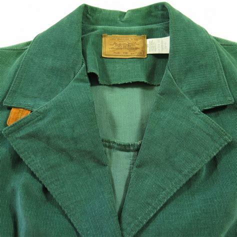 Blazer Levis vintage 70s levis corduroy blazer jacket womens 15 16 cotton green white tab the clothing vault