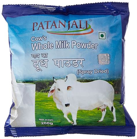 Cow Milk Powder 50g patanjali cow s whole milk powder reviews ingredients price mouthshut