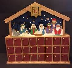 wooden nativity advent calendar with drawers wooden nativity advent calendar celebrate christmas
