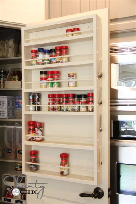 diy inside cabinet spice rack white door spice rack diy projects