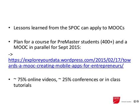 Lessons Learned From Mba Program by Creating A Small Course Spoc At Emlyon
