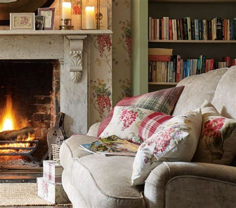 keep room warm keeping warm by the open in a cottage living room country cottage