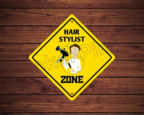 Aluminum Hair Stylist by Aluminum Hair Stylist Zone Metal Novelty Sign 12 034