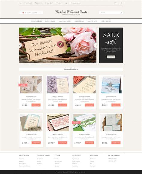 wedding cards website wedding cards store opencart template 51799