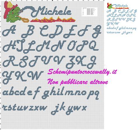 punto e croce lettere alfabeto con gris 249 schema punto croce schemi punto croce