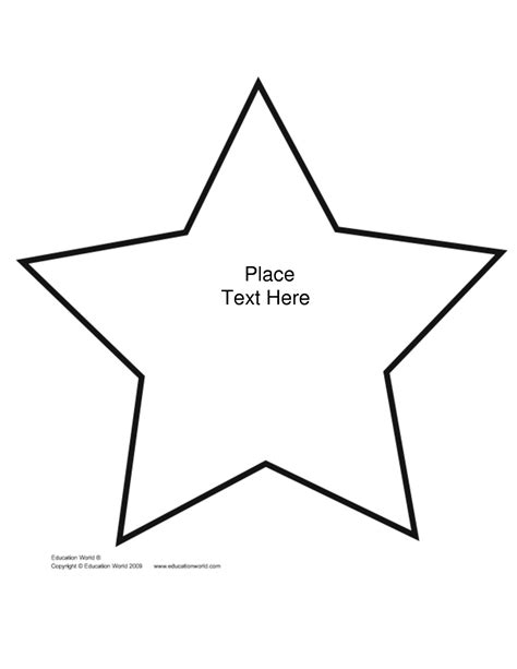 printable shape star template bedtime story bookfair