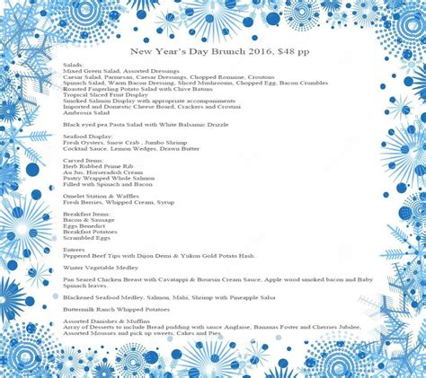 new year s brunch menu new year s events in branson branson tourism center