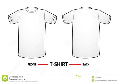 how to make a shirt template blank t shirt template stock images image 13335884