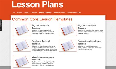 common lesson template resources on lesson plan templates