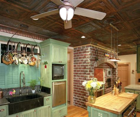 Classic Tin Ceiling Tiles Eclectic Kitchen Miami Tin Ceilings In Kitchens