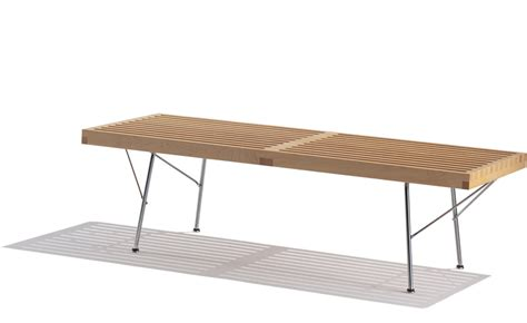 nelson bench metal legs george nelson platform bench with metal base hivemodern com