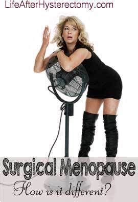 mood swings after hysterectomy surgical menopause symptoms how is menopause after