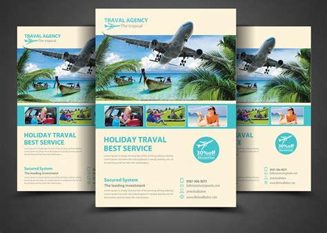 vacation flyer template 15 travel tourism flyer psd templates graphic cloud