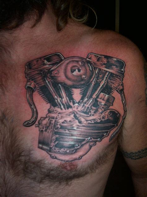 motor tattoos harley davidson pan motor design picture
