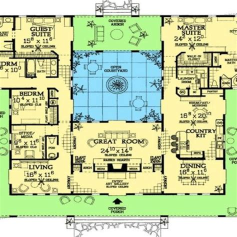 mediterranean house plans with courtyards unique house