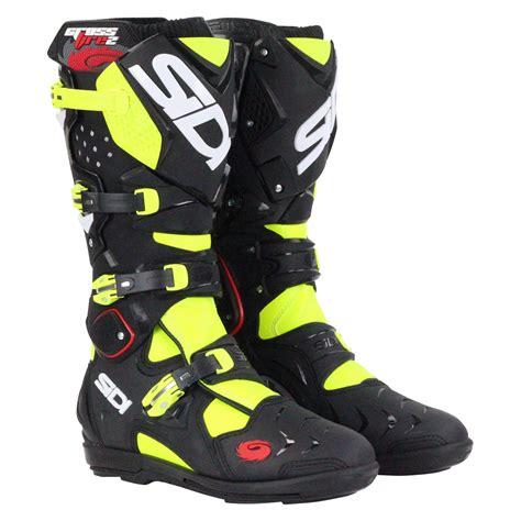 Sidi Srs Black Blue 2016 sidi new 2016 mx crossfire 2 srs dirt bike black yellow motocross boots