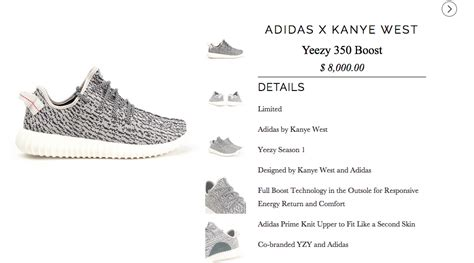 the adidas yeezy 350 boost in a size 5 will cost you several racks sole collector