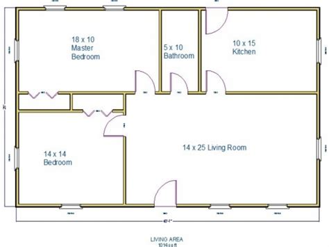 floor plans 1000 square 1000 square house plan house floor plans