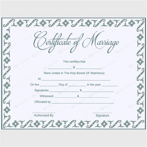 Wedding certificate template free marriage certificates 5 plus adorable blank marriage certificate designs for word yelopaper Image collections