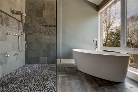 Modern country contemporary bathroom ottawa by maple leaf custom homes