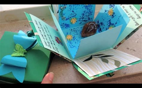 how to make explosion box handmade birthday card exploding box card and bow diy