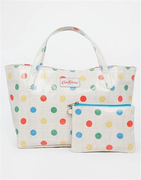 Cath Kidston 7 cath kidston small grab handle tote oc in lyst