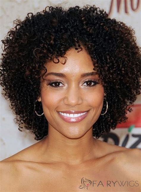 wigs for older women with round faces dainty short curly sepia african american lace wigs for
