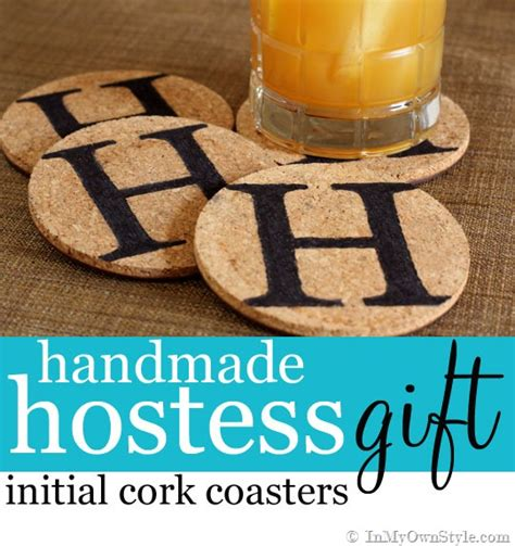 Handmade Hostess Gifts - handmade hostess gift initialed coasters in my own style