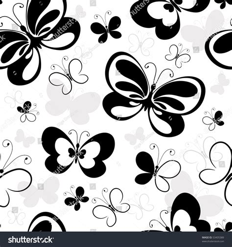 pattern silhouette vector seamless white pattern silhouettes butterflies vector