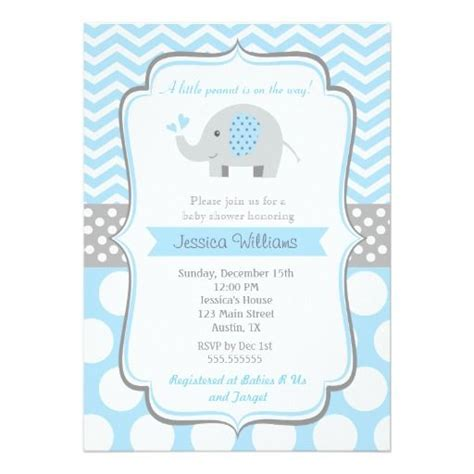 Unique Baby Shower Invites Boy by Boy Elephant Baby Shower Invitations In 2018 Boy Baby