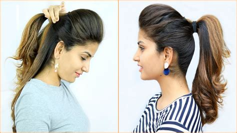 new high puff ponytail hairstyles 4 easy ponytails for school college work anaysa