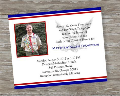 eagle scout invitation template eagle scout invitations dedicated scout 2 by