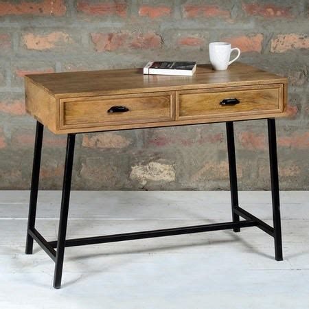 metal console table with drawers suri industrial modern narrow console table with drawers