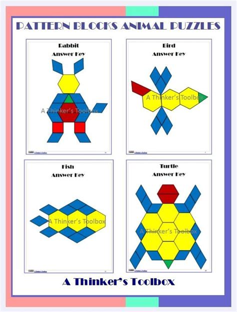 pattern block puzzles 1000 images about kindergarten teaching ideas on