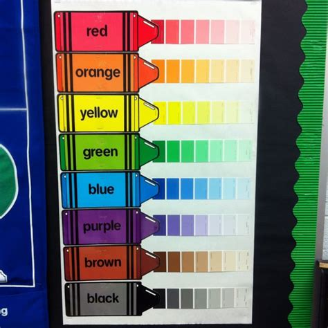 paint chips value lessons awesome charts and classroom