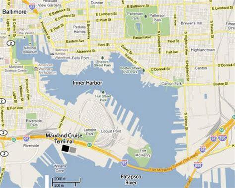 baltimore usa map professor cruise ship cruise departure port baltimore usa