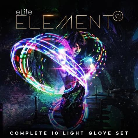 amazing lights elite element v2 light glove set rave gloves emazinglights