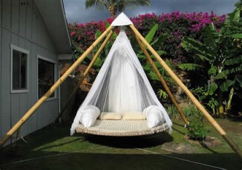 outdoor hammock bed diy troline swing bed for ultimate outdoor lounging