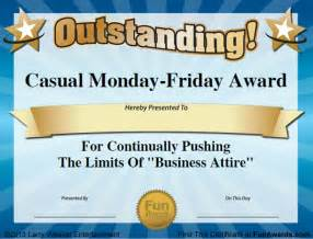 Joke Certificate Templates by Office Awards 101 Printable Award Certificates For