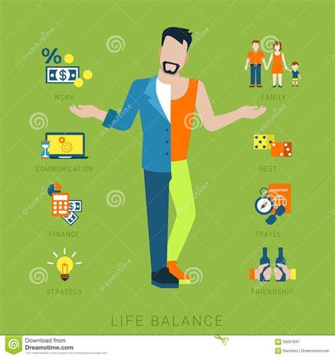 imagenes de la vida del hombre concepto plano de la balanza de la vida del vector de la