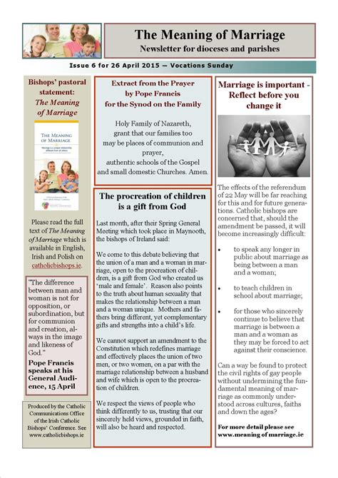 sle of newsletter the meaning of marriage newsletters catholic bishops conference