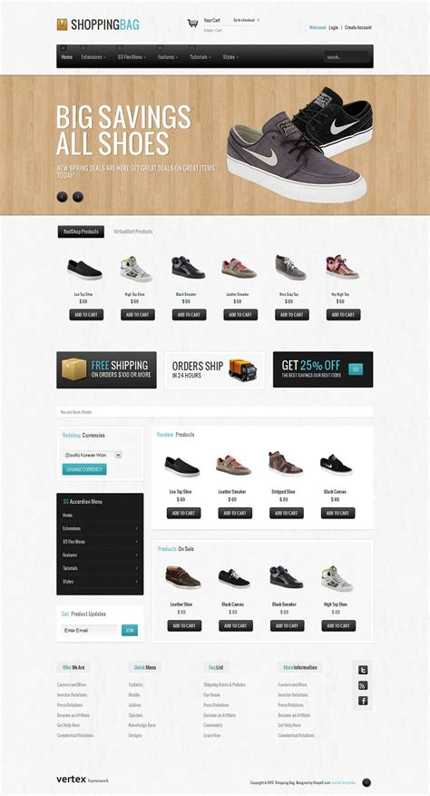 shopping bag premium joomla ecommerce template from shape5