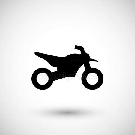 motosiklet motosiklet simgesi basit duez vektoer cizim