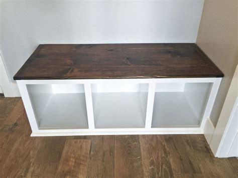 diy mudroom bench part  diy storage bench kitchen