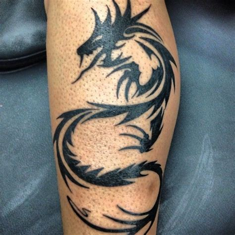 dragon tattoo on leg design 33 best tribal shin design for images on