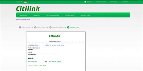 citilink kode booking cara web check in citilink 171 jaranguda com