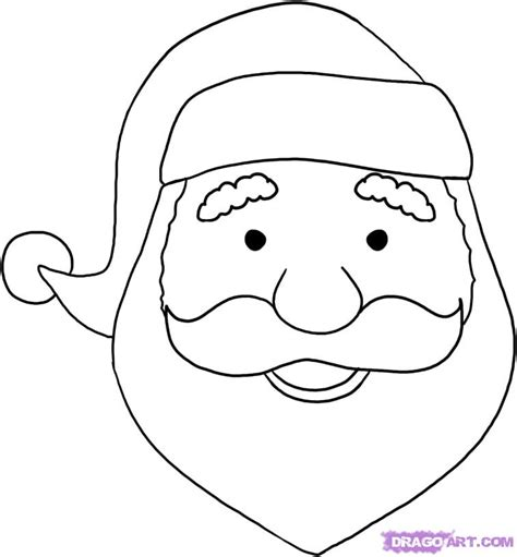 santa coloring pages simple easy to draw santa claus face christmas pinterest